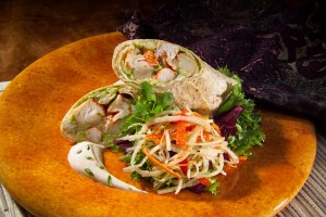 Lobster and Crab Flatbread with Jicama Slaw