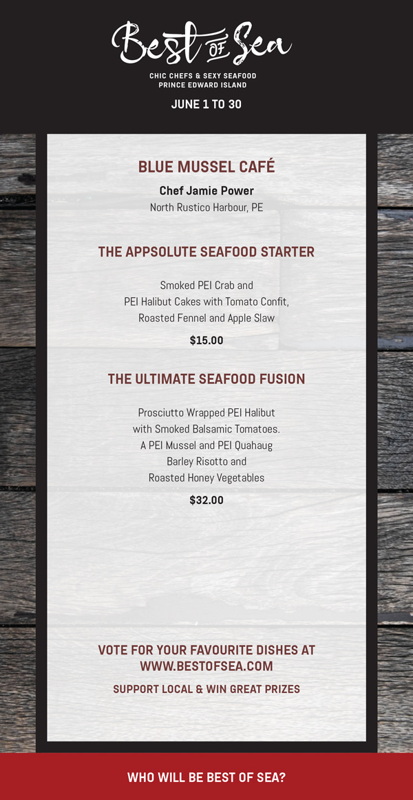 Blue Mussel Cafe Menu