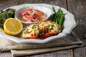 Garlic Butter Grilled Lobster with White Cheddar & Scallion