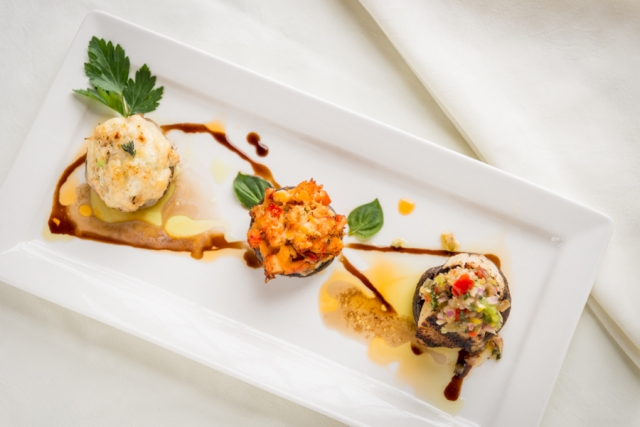 PEI Seafood Stuffed Mushroom Trio - Dundee Arms