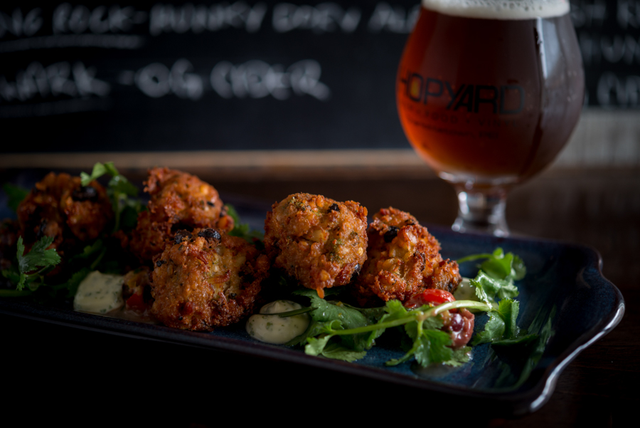 Oyster and Clam Hush Puppies - HOPyard Beer Bar