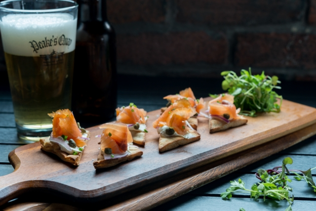 True North Smoked Salmon Flatbread - Peakes Quay