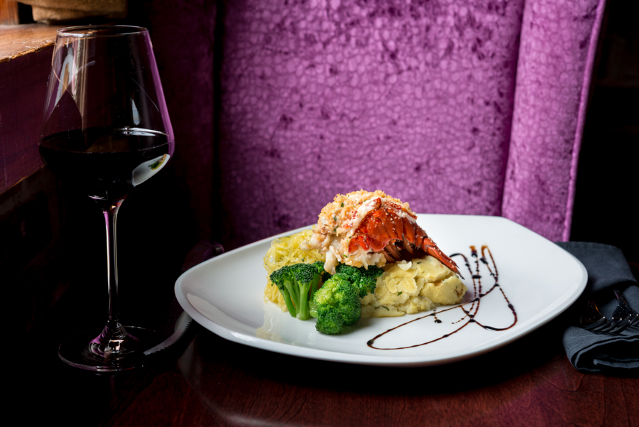 Crab Stuffed Lobster Tail - Sims Corner Steakhouse and Oyster Bar