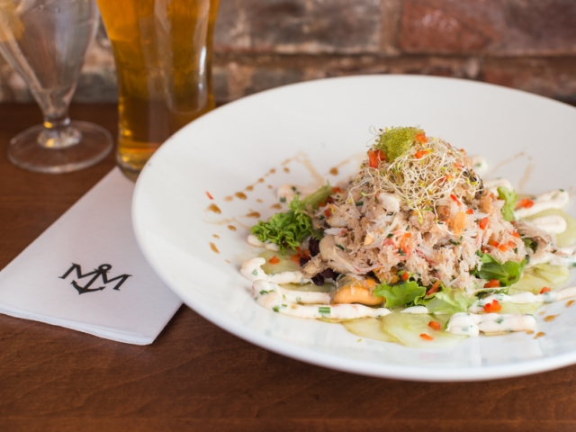 Crab and Mussel Salad – Merchantman Pub, Chef Andrew Cotton