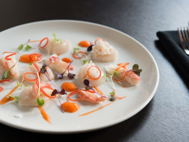 Scallop and Crab Crudo – Claddagh, Chef Mitchell Jackson