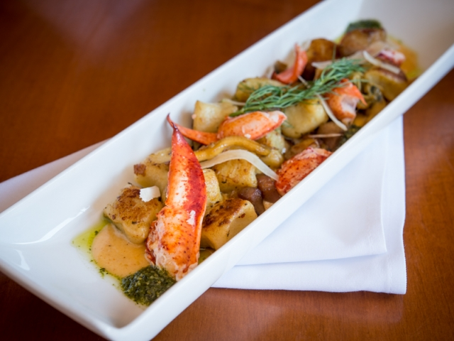 Lobster Clam Gnocchi  – Red Water Rustic Grille, Chef Les Flynn