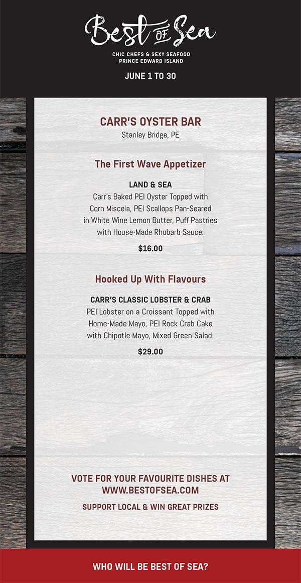 Carr's Oyster Bar 2018